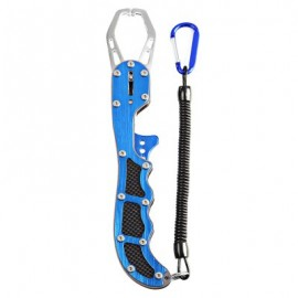 image of BL - 022 FISHING GRIP NIPPER SNIP LURE PINCERS CUTTER (BLUE) -