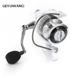 image of LIEYUWANG 13 + 1BB SPINNING FISHING REEL WITH EXCHANGEABLE HANDLE FOR CASTING LINE (PEARL WHITE, HC1000