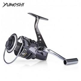 image of YUMOSHI BA6000 13 + 1BB METAL FISHING TACKLE SPINNING REEL (PYTHON WALL SNAKE MUD) BA1000