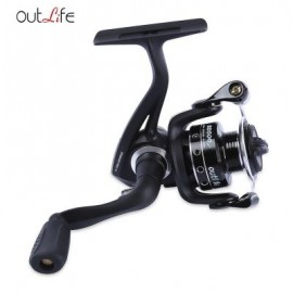 image of OUTLIFE BD500 / 650 5.2:1 5 + 1 BALL BEARINGS METAL SPOOL SPINNING FISHING REEL FISH EQUIPMENT (BLACK, BD500/BD650) BD500