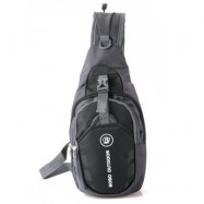 image of CASUAL LETTER ONE SHOULDER CHEST BAGS FOR MEN WOMEN -