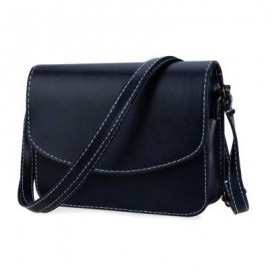image of MINI WOMEN SHOULDER BAG IMITATION LEATHER MESSENGER PACKET SATCHEL HANDBAGS (BLUE) HORIZONTAL