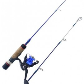image of HONOREAL HICEPRO ICE FISHING ROD AND REEL COMBO (BLUE AND BLACK) 0