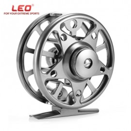 image of LEO AL 75 2 + 1 BALL BEARING 1:1 OUTDOOR FLY FISHING REEL (SILVER) -
