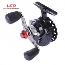 image of LEO DWS60 4 + 1BB 2.6:1 65MM FLY FISHING REEL WHEEL WITH HIGH FOOT (BLACK) RIGHT HAND