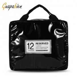 image of GUAPABIEN INSULATION HANDBAG MINAUDIERE COOLER LUNCH BAG (BLACK) BIG