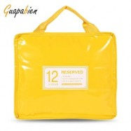 image of GUAPABIEN INSULATION HANDBAG MINAUDIERE COOLER LUNCH BAG (YELLOW) BIG