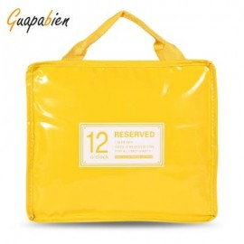 image of GUAPABIEN INSULATION HANDBAG MINAUDIERE COOLER LUNCH BAG (YELLOW) BIG