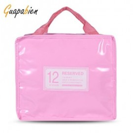 image of GUAPABIEN INSULATION HANDBAG MINAUDIERE COOLER LUNCH BAG (PAPAYA) SMALL