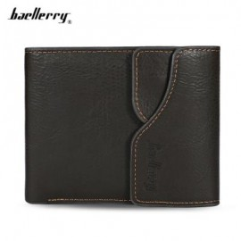 image of BAELLERRY MEN COIN POCKET PU LEATHER SHORT WALLET CARD HOLDER (ARMY GREEN) -