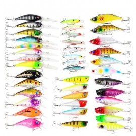 image of PROBEROS DWS230 40-PIECE SET ABS PLASTIC CLASSIC FISHING LURES HARD BAIT (COLORMIX) 0