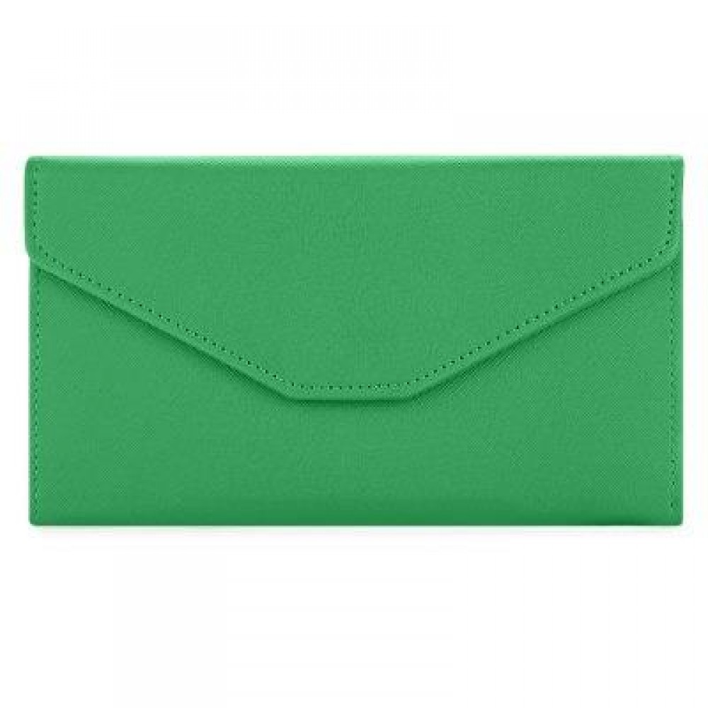 GUAPABIEN SOLID COLOR SNAP FASTENER CELL PHONE ENVELOPE CLUTCH WALLET (GRASS GREEN) -