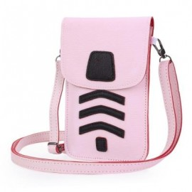 image of LADY CUTE CARTOON SHOULDER DIAGONAL BAG MINI PHONE POCKET (LIGHT PINK) ??