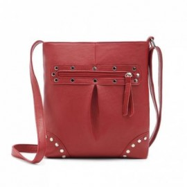 image of FASHION STYLE SOLID COLOR AND RIVETS DESIGN WOMEN'S CROSSBODY BAG -