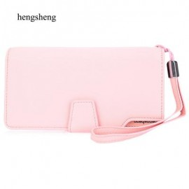 image of STYLISH PURE COLOR WALLET CARD HOLDER (PINK) 10.80 x 3.40 x 20.00 cm