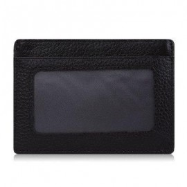 image of LICHEE PATTERN SOLID COLOR OPEN LEATHER HORIZONTAL MAGNET CARD WALLET FOR MEN (COFFEE) VERTICAL