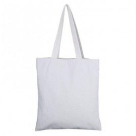 image of GUAPABIEN SOLID COLOR OPEN CANVAS COTTON HANDCRAFT THICK PORTABLE SHOULDER BAG FOR WOMEN (WHITE) TWO LAYERS