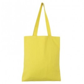 image of GUAPABIEN SOLID COLOR OPEN CANVAS COTTON HANDCRAFT THICK PORTABLE SHOULDER BAG FOR WOMEN (GINGER) TWO LAYERS