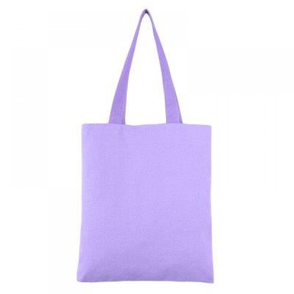 GUAPABIEN SOLID COLOR OPEN CANVAS COTTON HANDCRAFT THICK PORTABLE SHOULDER BAG FOR WOMEN (PURPLE) TWO LAYERS