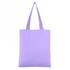 image of GUAPABIEN SOLID COLOR OPEN CANVAS COTTON HANDCRAFT THICK PORTABLE SHOULDER BAG FOR WOMEN (PURPLE) TWO LAYERS