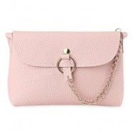 image of BRIEF CHAIN EMBELLISHED CROSSBODY BAG FOR WOMEN (PINK) -