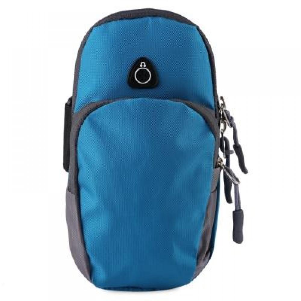 OUTDOOR SPORT CELLPHONE BAG RUNNING WRIST POUCH (BLUE) -