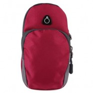 image of OUTDOOR SPORT CELLPHONE BAG RUNNING WRIST POUCH (PURPLISH RED) -