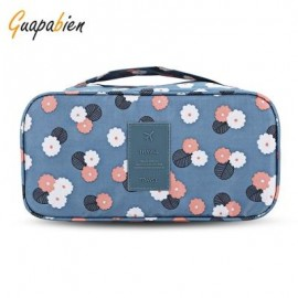 image of GUAPABIEN MAKEUP UNDERWEAR PRINT PORTABLE TRAVEL POUCH BAG (AZURE) -