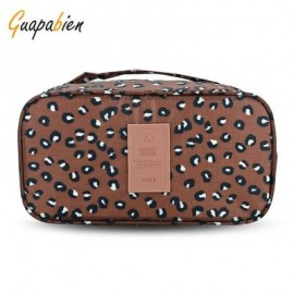 image of GUAPABIEN MAKEUP UNDERWEAR PRINT PORTABLE TRAVEL POUCH BAG (CAMEL) -