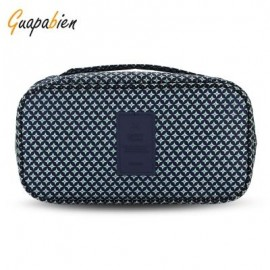 image of GUAPABIEN MAKEUP UNDERWEAR PRINT PORTABLE TRAVEL POUCH BAG (DEEP BLUE) -