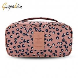 image of GUAPABIEN MAKEUP UNDERWEAR PRINT PORTABLE TRAVEL POUCH BAG (PINK) -