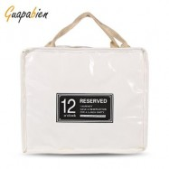 image of GUAPABIEN INSULATION HANDBAG MINAUDIERE COOLER LUNCH BAG (OFF-WHITE) BIG