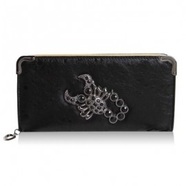 image of TRENDY SCORPION AND RHINESTONES DESIGN WOMEN'S WALLET -