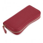 image of S SHAPE LICHEE TRAVEL BUSINESS KEY CASE FOR UNISEX (RED) 6.80 x 2.50 x 12.80 cm