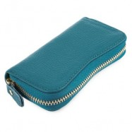 image of S SHAPE LICHEE TRAVEL BUSINESS KEY CASE FOR UNISEX (BLUE) 6.80 x 2.50 x 12.80 cm