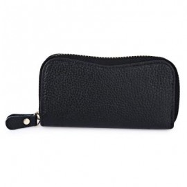 image of S SHAPE LICHEE TRAVEL BUSINESS KEY CASE FOR UNISEX (BLACK) 6.80 x 2.50 x 12.80 cm