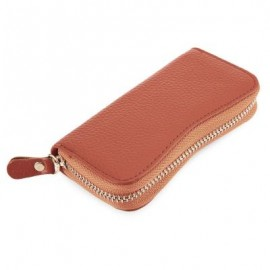 image of S SHAPE LICHEE TRAVEL BUSINESS KEY CASE FOR UNISEX (ORANGE) 6.80 x 2.50 x 12.80 cm