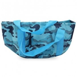 image of OUTDOOR PORTABLE LIGHTWEIGHT WASH BASIN FOLDING BAG (BLUE) -