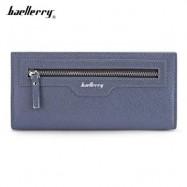 image of BAELLERRY THIN SOFT CLUTCH BAG LONG CARD HOLDER COIN PURSE MEN (CERULEAN) -