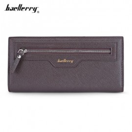 image of BAELLERRY THIN SOFT CLUTCH BAG LONG CARD HOLDER COIN PURSE MEN (ESPRESSO) -