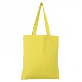 image of SOLID COLOR OPEN CANVAS COTTON HANDCRAFT THICK PORTABLE SHOULDER BAG FOR WOMEN (GINGER) 32.50 x 0.50 x 35.50 cm