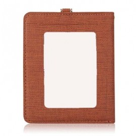 image of DETACHABLE NECK STRAP PU LEATHER MAGNET CARD HOLDER UNISEX LIGHT WALLET (COFFEE) -