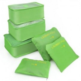 image of 6 BAGS OF BAGS TRAVEL BAGS 6 SPACE SAVING INCLUDING BAGS TISSUE TRAVEL (GREEN) (GREEN) 0