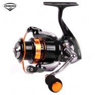 image of PRO BEROS 7 BB METAL FISH TRACK SPINNING REEL (BLACK) SLT1000