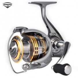 image of PRO BEROS 13 + 1 BB METAL FISH TRACK SPINNING REEL (SILVER) LD5000