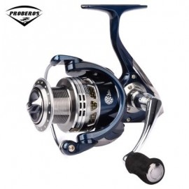 image of PRO BEROS 13 + 1BB LIGHTWEIGHT ALUMINUM FISHING REEL (SILVER AND BLUE) LP3000