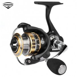 image of PRO BEROS 13 + 1BB LIGHTWEIGHT METAL SPINNING FISHING REEL (SILVER AND BLACK) LM1000
