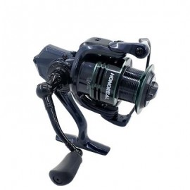 image of HONOREAL 5000 ALUMINUM SPOOL 9+1 BB SPINNING FISHING REEL WITH FREE SPARE GRAPHITE SPOOL FOR FRESHWATER AND SALTWATER (BLUE AND GREEN) 0