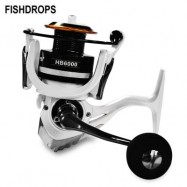 image of FISHDROPS 12+1BB LIGHTWEIGHT FISHING TACKLE SPINNING REEL (GRAY) HB6000