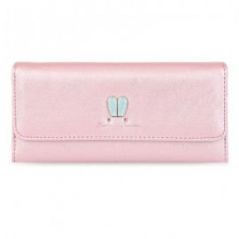 image of RABBIT EAR PATTERN SUCTION BUTTON DESIGN MULTICARD BIT WRIST CLUTCH CARD HOLDER WALLET (PINK) 1.00 x 1.00 x 1.00 cm